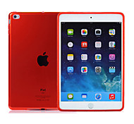 2pcs caso del tpu duradera transparente clara suave cubierta trasera para el mini iPad de Apple 4 2015 lanzado