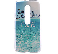 Beautiful Beaches Live Pattern PC Hard Back Cover Case for Motorola MOTO G3 3rd Gen