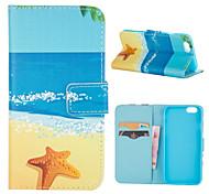 Tarjeta de modelo de playa del cuero del soporte para el iphone 6 / 6s