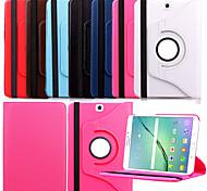 Para Funda Samsung Galaxy con Soporte / Flip / Rotación 360º Funda Cuerpo Entero Funda Un Color Cuero Sintético Samsung Tab S2 9.7