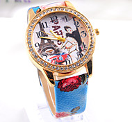 PU leather  Fashion  retro Eiffel Tower  Hot sell Women's punk Diamond Watch freeshipping
