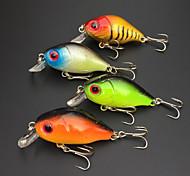 4Pcs Hard Bait 50mm/6g Crank Fishing Lure Packs Fishing Tackle