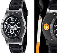 Huayue Watch Design Creative Usb Electronic Cigarette Lighter (Black) Cool Watch Unique Watch