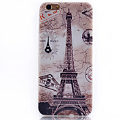 Tower Pattern Transparent Soft TPU Material Cell Phone Case for iPhone 6