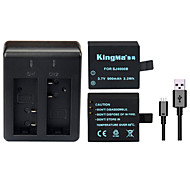 KingMa Backup  Rechargable Battery+Dual USB Charger For SJ4000 SJ5000 SJ6000