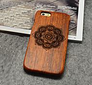 Para Funda iPhone 5 En Relieve / Diseños Funda Cubierta Trasera Funda Mandala Dura Madera iPhone SE/5s/5