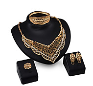 Europe Exaggerated Accessories Four Sets Of Jewelry Set