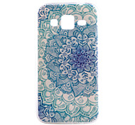 Blue and White Pattern Thin Transparent TPU Material Phone Case for Samsung Galaxy G360/ G850 /G5308