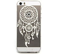 Key Campanula Pattern TPU Cell Phone Soft Shell For iPhone 5/5S