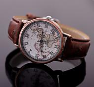 relógios da mulher retro roma superfície de cobre mapa relógio de quartzo genebra assistir mapa do mundo