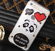 Black and White Panda Cartoon Acrylic Love Mobile Phone Shell for iPhone 5/5S(Assorted Colors)