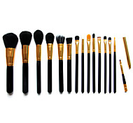 15 Makeup Brushes Set Nylon Wood Face Others