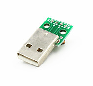 USB Male to Dip 2.54mm 4-Pin Module - Green