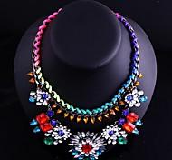 Women Colorful Jewelry Chain Pendant Choker Necklace