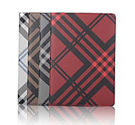 7.9 Inch Grid Pattern Canvas Wallet Leather Case with Stand for iPad Mini 4(Assorted Colors)