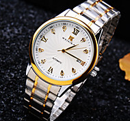 Men's High-end Simple Round Dial Mineral Glass Mirror Steel Band Business Fashion Calendar Mechanical Waterproof Watch