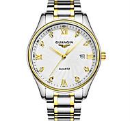 Mulheres Relógio de Moda Quartz LED / Calendário / Impermeável Aço Inoxidável Banda Prata marca