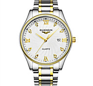 Dames Modieus horloge Kwarts LED / Kalender / Waterbestendig Roestvrij staal Band Zilver Merk