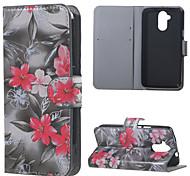 rote Blumenmuster Leder Brieftasche Flip Standplatzfall für Acer Liquid Z410-Fällen deckt für Acer Liquid Z410
