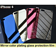 Mirror color plating anti explosion glass protection film (front and back) for iPhone 6S/6