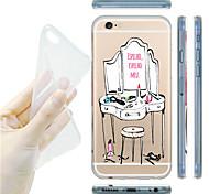 maycari® необходимые предметы или услуги стильный девочек прозрачный мягкий ТПУ назад чехол для Iphone 6 плюс