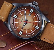 New 2015 Brand  Men'S Watch Men Date Clock Men Casual Quartz Watch Leather Wrist Sports Watches Military Army