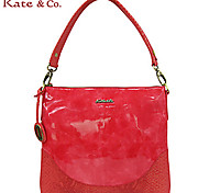Kate & Co.® Women PVC Shoulder Bag Yellow / Red - TS-00142