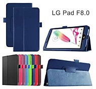 Flip Case Support Folding Leather Case Fashion PU  Tablet Computer Protection Shell for LG  pad F 8.0  Assorted Colors