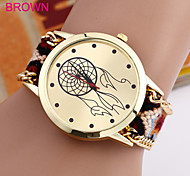 Woven Woolen Ladies Quartz Wrist Watch Wind Wheel Pattern Pull Cord Bracelet Cool Watches Unique Watches