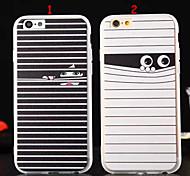 Mobile Shell patrón del tpu seda niña a rayas blanco y negro ojo para iPhone6 6s / iphone (colores surtidos)