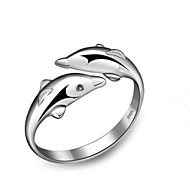 WH  Woman Dolphin Opening Ring
