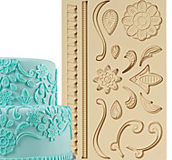 Cake Decoration Tools Lace Designs Fondant and Gum Paste Mold Cake Decorating Border Silicone Mold