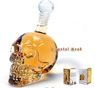 кристаллический скелет головы бутылки кристаллическое стекло съемки черепа новизны хип чашка 350мл