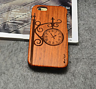Wood Street Lamp Clock Hard Back Cover for iPhone 6