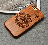 Wood Loong Chinese Dragon Oriental Culture Hard Back Cover for iPhone 6 Plus