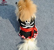 FUN OF PETS® Cool Halloween costume Clothes Pirate Skull Skeleton Cosplay Clothing Jumpsuit for Pets Dogs Dog Clothes
