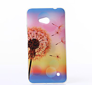 Dandelion Pattern TPU Soft Case for Nokia N640