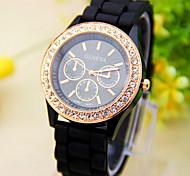 Kids's Watch Geneva Geneva Diamond Jelly Silicone Watch