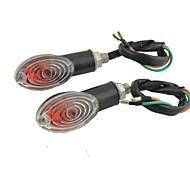 2 pezzi di plastica nera conchiglia gialla led indicatori luminosi di direzione di moto
