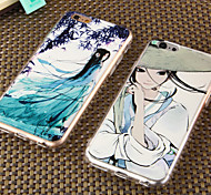 The Embossed Painting China Combo Wind Beautiful Mobile Phone Shell for iPhone 6 Plus/iPhone 6S Plus(Assorted Colors)