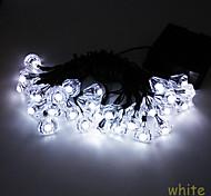 6.5M 30LED Solar Diamond Shape String Lights Fine Party Decortation lights