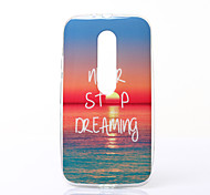 Charming Sunshine Pattern TPU Soft Case for Motorola Moto G3