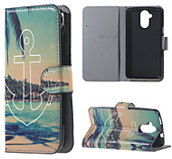 For Acer Liquid Z410 Cover Anchors Pattern Leather Wallet Flip Stand Case Acer Liquid Z410 Cell Phone Cases