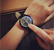 WomanAnd Men  Fashion Leather LED Wrist Watch