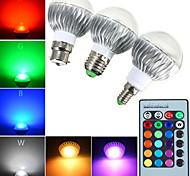1 pcs E14 / E26/E27 / B22 6 W 1 High Power LED 540 LM RGB Dimmable / Remote-Controlled Globe Bulbs AC 85-265 V