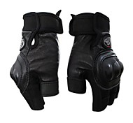 Leather Motorcycle Gloves Racing Waterproof Summeer Outdoor Sports Short Finger Gloves Cycling Half Finger Bike Gloves