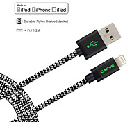 MFI Certified CARVE 4ft(1.2M)  Lightning to USB Sync and Charge Cable for Apple iPhone 5/5s/ 6/6 Plus/ iPad mini