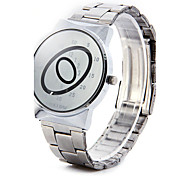Paidu Brand Japan Movt Male Quartz Reflective Mirror Oval Scale Wristwatch with Alloy Band Wrist Watch Cool Watch Unique Watch