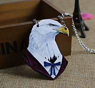 Eagle Wood Pendant Necklace