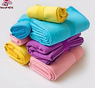 FUN OF PETS® Cute Solid Color Good Absorption Towel  for Pet Dogs and Cats  (Assorted Colors and Sizes)